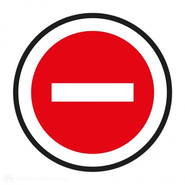 Durchgang verboten Aufkleber
